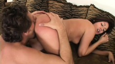Perky and gorgeous broad bares all and begs for his thick prick