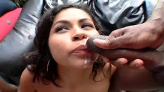 Lustful Brazilian girls get their fiery holes stretched by black studs
