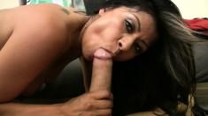 Big breasted hottie Gabby Quinteros fully enjoys a deep fucking in POV