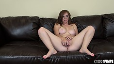 Lubricious babe Mary Jane Mayhem can't live or think properly without cumming hard