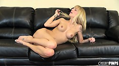 Jana Jordan gets on all fours and offers her ass in the air to any cocks