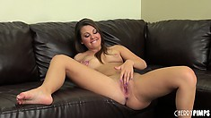 Cali Hayes is sexy and tempting in this video showing dildo play