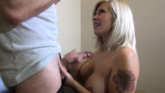 Stacked blonde amateur gets picked up on the street and pounded hard