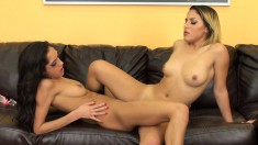 Chloe and Liv meet on a live set for some delicious pussy eating and toying