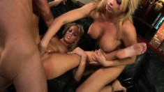 Two wonderful blonde cougars explore their passion for rough anal sex