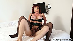 Vanessa truly enjoys getting banged doggy style and bouncing on that cock