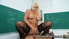 Alexis Golden loves to watch a gleaming cock glide between her sloppy lips