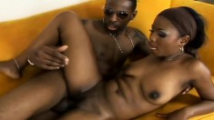 Ms. Simone gobbles down his dick and bounces her big ass on him