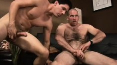 Two sexy and horny gay friends share their passion for masturbation