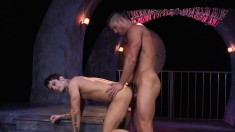 Two beautiful gay lovers take turns plowing each other's needy asses