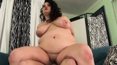 Fat brunette Allison welcomes a long shaft deep inside her needy cunt