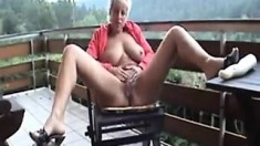 Big boobs amateur Georgie fucked outdoor