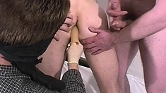Frat pledge gets hazed and teased by a bunch of freaky gay dudes