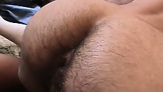 Three horny guys have fun with dildos, exchange blowjobs and enjoy anal sex