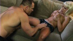 Big breasted blonde Layla Jade gets her holes drilled rough by Jay Z