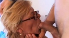 Horny old grandma feels young again when she rides some thick pole