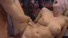 Hannah Harper is a ravishing blonde with a passion for rough anal sex