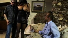 Huge titted Carmen Hayes gets treated like the nasty slut she is