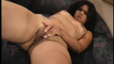 Dana Vespoli screams with every thrust of cock in her tiny anal hole