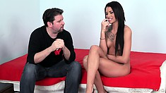 Hot tattooed brunette gets increasingly wilder through this video