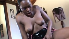 Black lesbians use their favorite sex toys to provide to each other intense pleasure