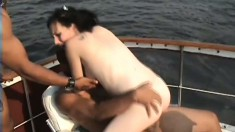 Dick-slurping white chick goes down on an addictive black rod