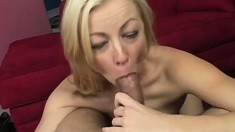 Seductive blonde gives her amazing backside up to her boyfriend