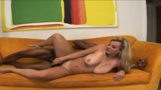 Big breasted blonde cougar Kayla Prettyman is addicted to black meat
