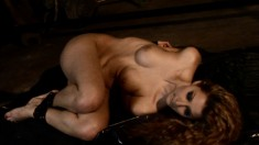 Blonde bombshell gets all wet while watching her friend play with a dildo