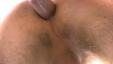 Gay studs are outside licking the pole and drilling a tight butt