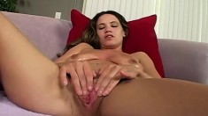 Busty Kitten gets her peach fucked hard and her mouth filled with cum