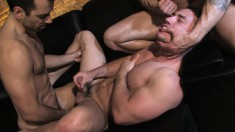 Three beautiful and lustful gay boys explore common desires and needs
