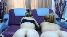 Group lesbian sex and playing with toys