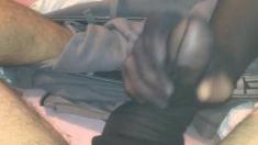 Nylon Handjob With Nylon Dick