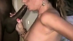 Blonde Wife, worships Her Masters Cock with her mouth