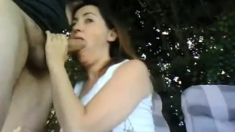 Couple Outdoor Sex And Creampie
