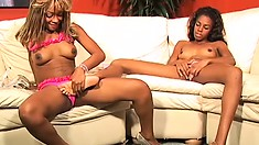 Hot blonde momma hooks up with her BFF for some hot lesbian fun