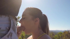 Czech amateur pussy fucked outdoor POV