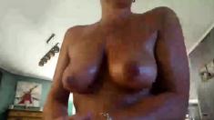 Milf teacher plays naughty schoolgirl in solo masturbation