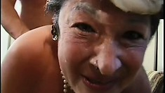 Chubby mature lady can't wait to taste some of that young man meat