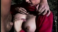 Nicole London gets bent over and fucked like a bitch on the slopes