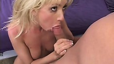 Attractive blonde girl spreads her legs for a friend to comfort her
