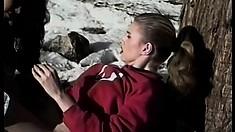 Nicole London has a naughty lesbian fuck fest at a ski resort