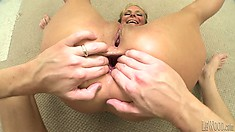 Decent and slutty babe gets her vagina and ass bashed by nasty poker
