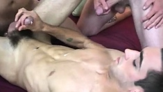 Free straight guys jerking off movie gay first time Lee
