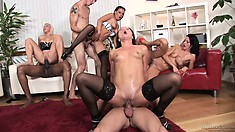 Slutty girls gather to make it a naughty bachelor party to remember