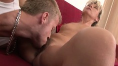 Hairy blonde receives the deep dicking she'd been craving so badly