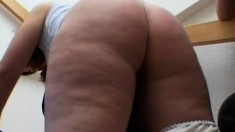 Chubby pigtailed Euro brunette sucks and fucks to feel better about herself