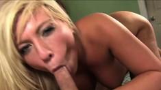 Heidi Hollywood backs her round butt onto some rock hard rod