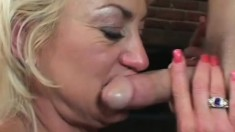 Dana Hayes loves to feel a young man's dick slide inside her slit